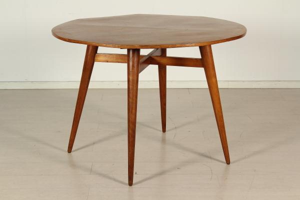 Tavolo anni 50 tavoli modernariato for Tavolo rotondo o qui