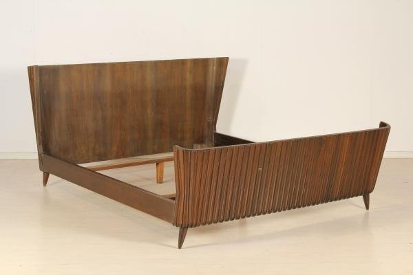 Letto matrimoniale anni 40 50 mobilio modernariato - Letto di paglia ...