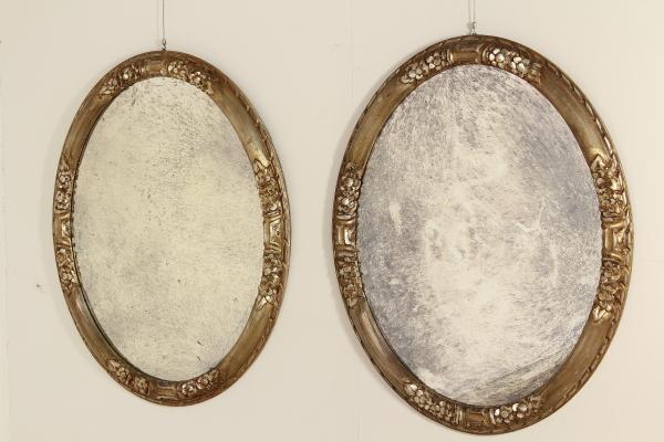 Coppia di specchi mobili in stile bottega del 900 - Specchi in stile ...
