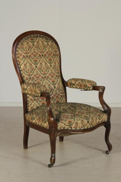 Poltrona sedie poltrone divani antiquariato for Sedie a poltrona