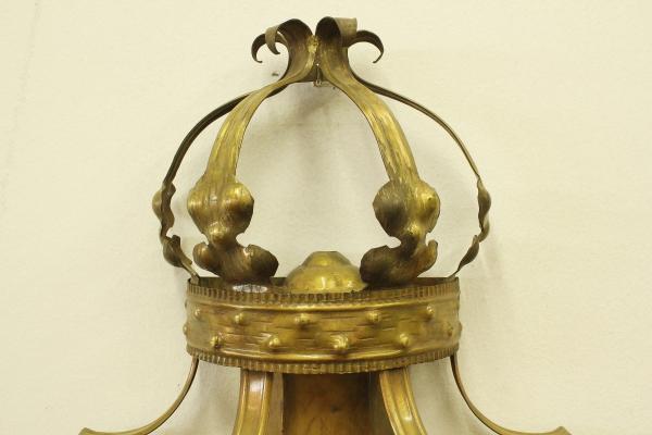 Applique lanterna ottone antico illuminazione bottega del 900