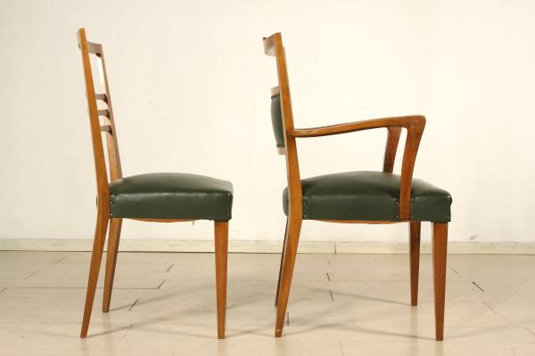 Sedie e poltrona anni 40 sedie modernariato for Sedie a poltrona