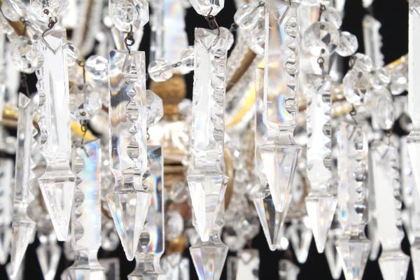Kronleuchter Mit Glasperlen ~ Abgeschrägten glasperlen und kronleuchter beleuchtung bottega