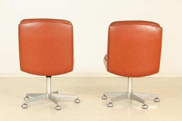 Sedie Girevoli Da Ufficio : Coppia sedie ufficio sedie modernariato dimanoinmano
