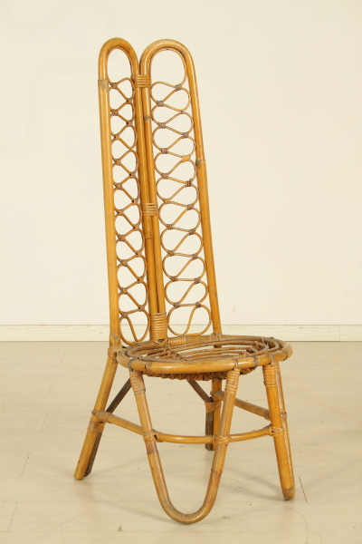 Sedia in bamb sedie modernariato for Sedia a dondolo bambu