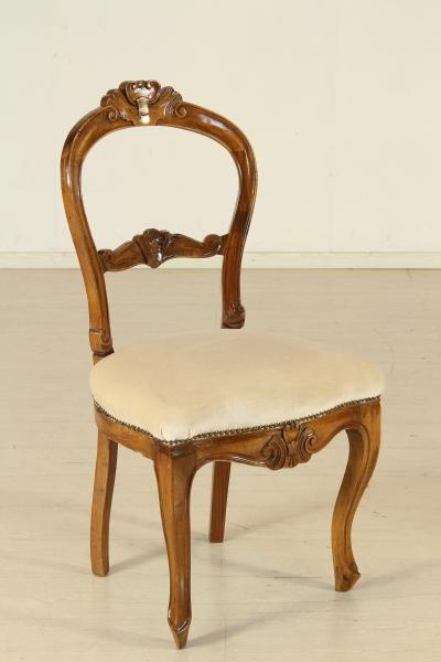 Divani Antichi Luigi Filippo : Gruppo di sei sedie luigi filippo poltrone divani