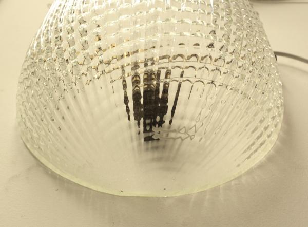 Applique vetro lavorato trasparente illuminazione modernariato