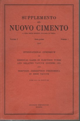 Supplemento al Nuovo Cimento, volume V, serie prima,1967