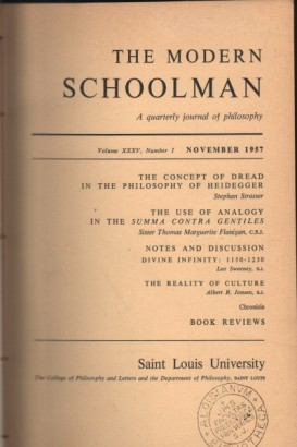 The Modern Schoolman volume XXXIV, 1956-1957