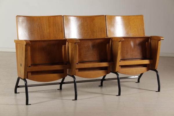 Fila sedie cinema 3 posti sedie modernariato for Mobili modernariato