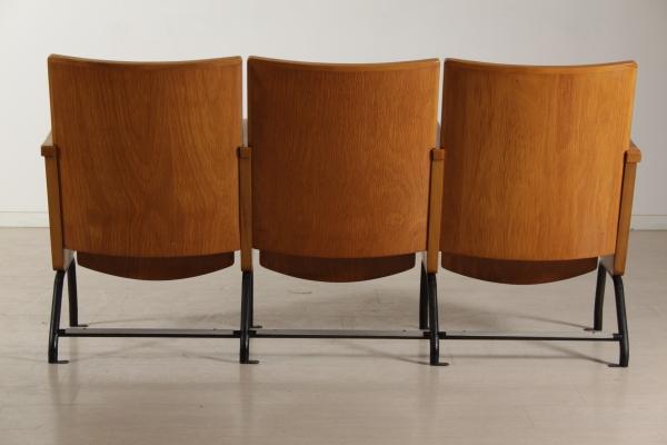 Fila sedie cinema 3 posti sedie modernariato dimanoinmano.it