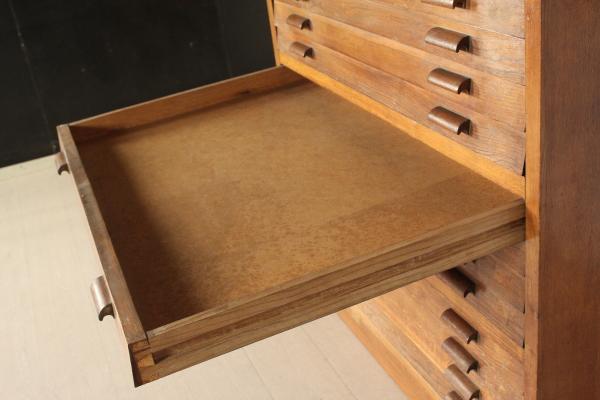 Cassettiera porta disegni liberty bottega del 900 for Cassettiera usata
