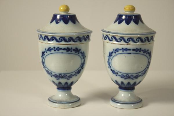 Credenza Da Farmacia : Coppia di vasi da farmacia ceramiche antiquariato