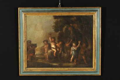 Bacchus with Cherubs Oil Painting Anonymous Artist 17th Century