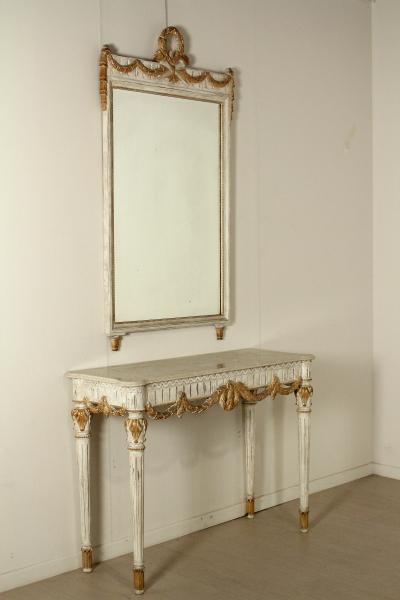 Consolle con specchio mobili in stile bottega del 900 - Mobili in specchio ...