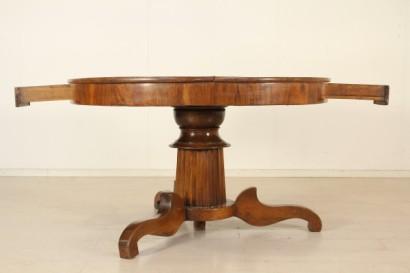 Tavolo rotondo intarsiato restaurazione - Tavoli - Antiquariato ...