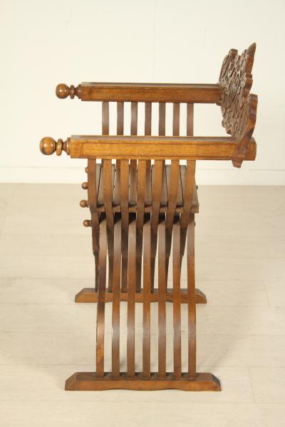 Sedia stile savonarola neorinascimento bottega del 900 - Savonarola sedia ...