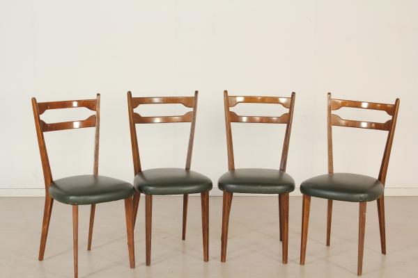 Sedie Imbottite Anni 50 : Gruppo di sedie modernariato design made in italy anni