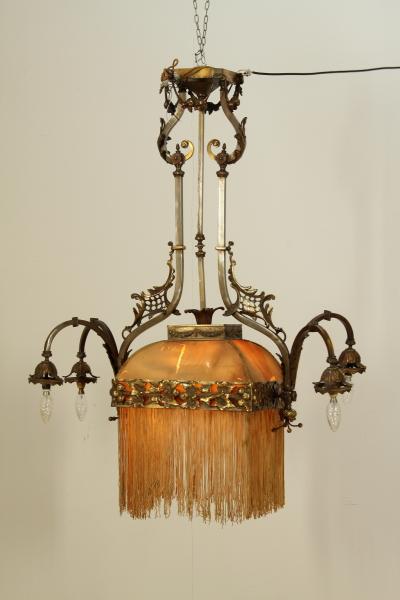 Lampadario liberty - Illuminazione - Bottega del 900 - dimanoinmano.it