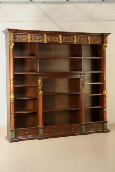 Libreria a giorno in stile mobili in stile bottega del for Piani di libreria stile artigiano