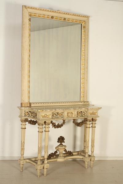 Consolle con specchio in stile neoclassico - Consolle - Antiquariato ...