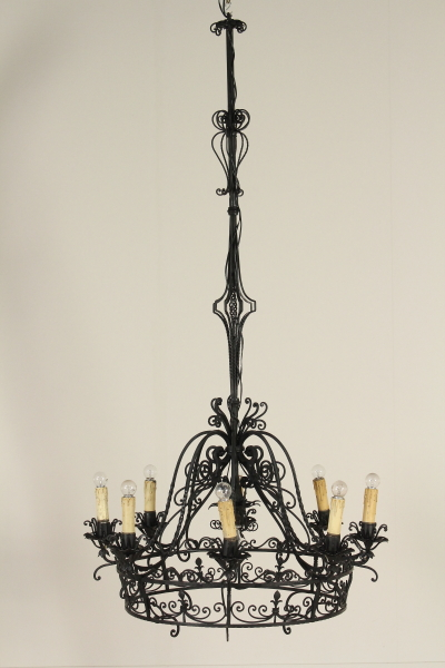 lampadario ferro battuto : Lampadario ferro battuto - Illuminazione - Bottega del 900 ...