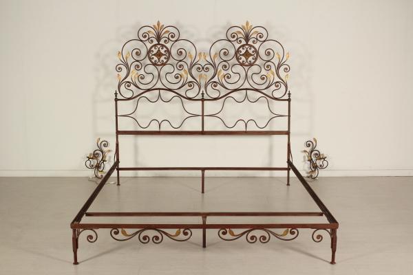 Cama doble marco y apliques par - Muebles de estilo - Bottega del ...