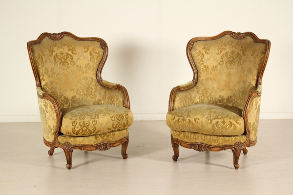 Paar Louis XV Stil Sessel - Taverna - Bottega del 900 - dimanoinmano.it