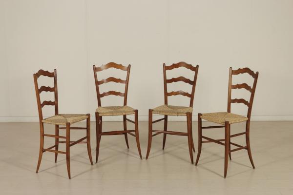Quattro sedie chiavarine sedie poltrone divani for Poltrone e sedie