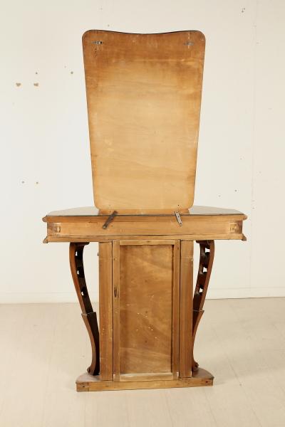 consolle con specchio anni 30 mobilio modernariato