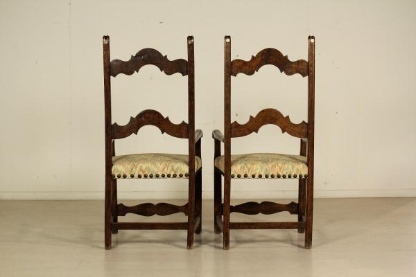 Coppia di sedie in noce sedie poltrone divani antiquariato