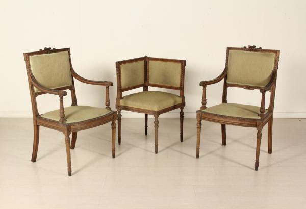 Paar Sessel Und Stuhl Ecke Stilvolle Mobel Bottega Del 900