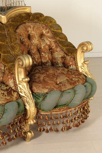 Divano demilune con fioriere in stile barocco sedie for Divano barocco