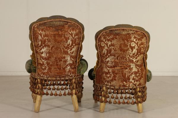 Gruppo di sedie in stile barocco sedie poltrone divani