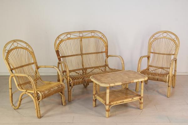 Bambus Lounge Komplette Ausstattung Modernes Design