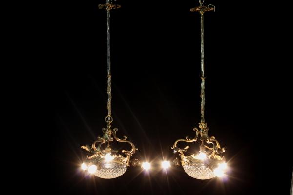 Coppia lampade da soffitto illuminazione bottega del
