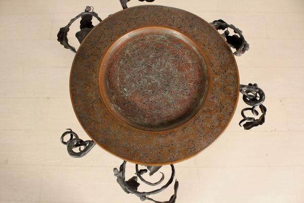 Porta bacile in ferro battuto liberty bottega del 900 - Ferro battuto porta ...