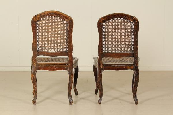 Par de sillas barrocas mesas de sillas sillones sof s for Sillas barrocas modernas