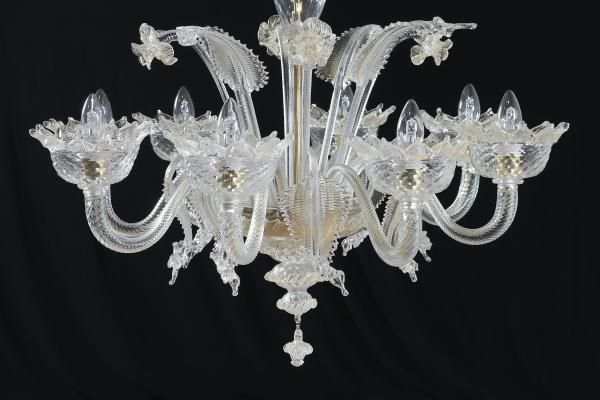 Lampadario Antico Murano : Antico lampadario di vetro bianco di murano arredamento e