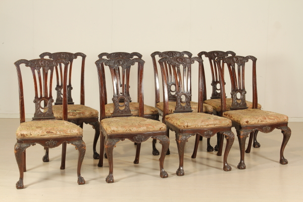 Sedie Stile Chippendale : Gruppo di otto sedie chippendale bottega del 900 dimanoinmano.it