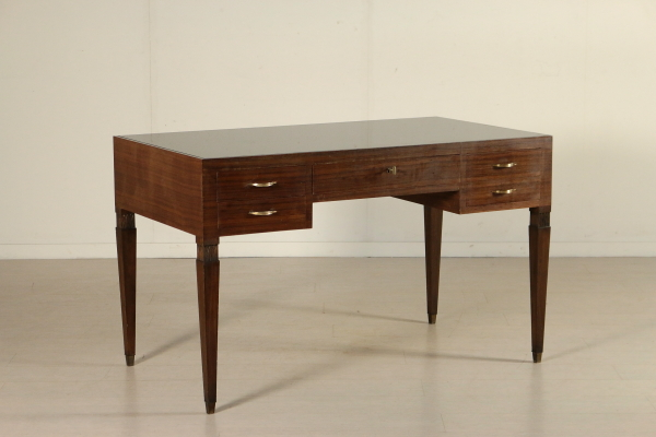 Scrivania anni 40 50 tavoli modernariato for Negozi tavoli milano