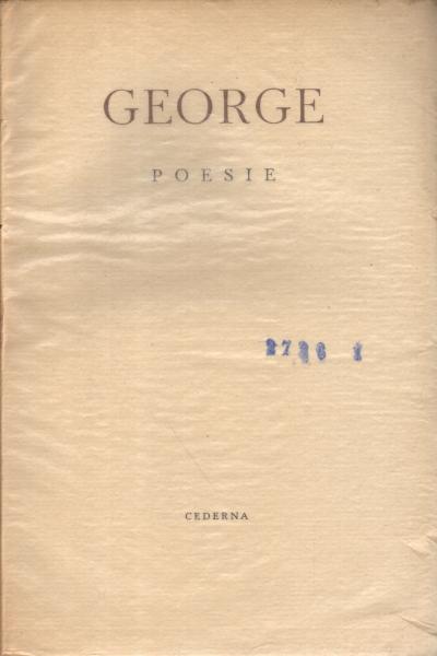 Poemasgedichte Stefan George Poesía Extranjera Poesía