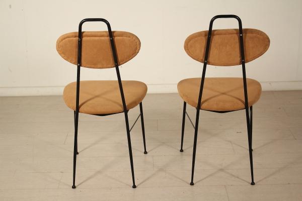 Sedie vintage anni 50 set di sedie anni style ico parisi for Sedia anni 50 design