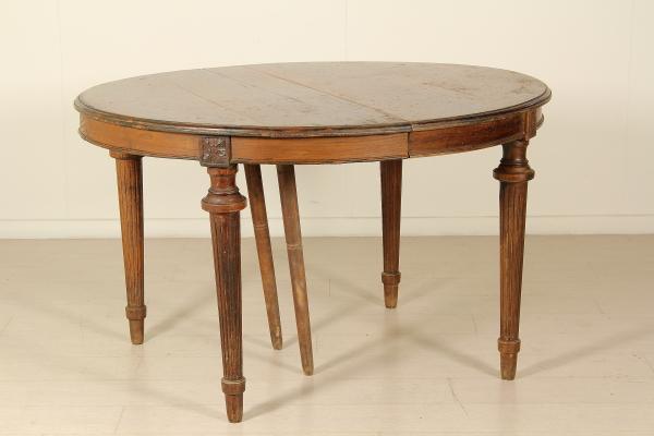 Tavolo ovale allungabile tavoli antiquariato - Tavolo ovale allungabile ...