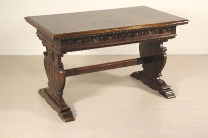 Tavolo scrivania neorinascimento bottega del 900 for Tavolo scrivania