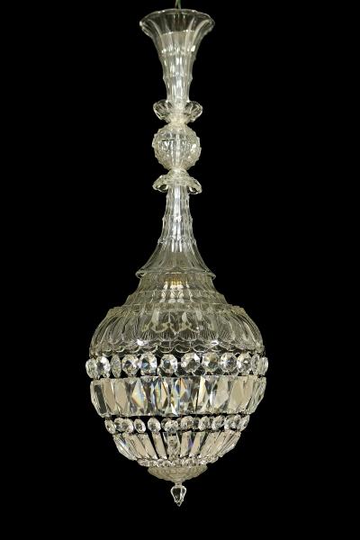 Lampadario cristallo - Illuminazione - Bottega del 900 - dimanoinmano.it