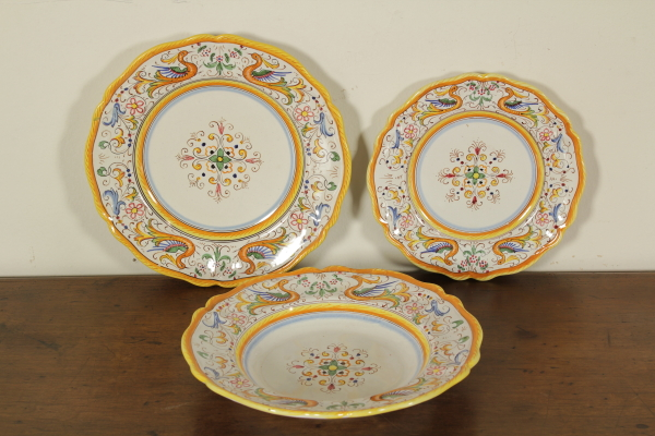 Great service Deruta dishes - Ceramics - Antiques - dimanoinmano.it