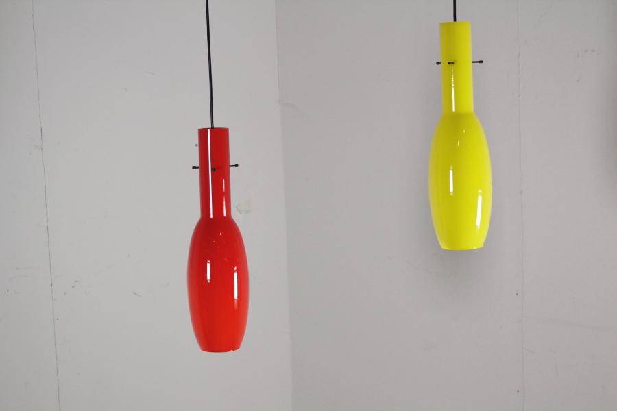 Lampade In Vetro Anni 70 : Vintage lampada da soffitto in vetro anni u eur lights
