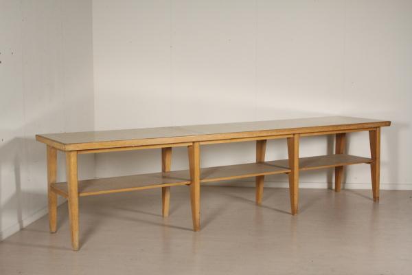 Tavolo da lavoro anni 60 tavoli modernariato for Negozi tavoli milano