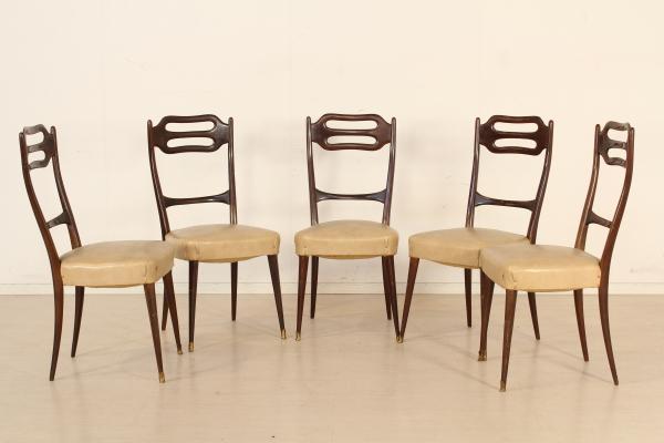 Fünf Stühle Im Stil Von Guglielmo Ulrich. Moderne ...